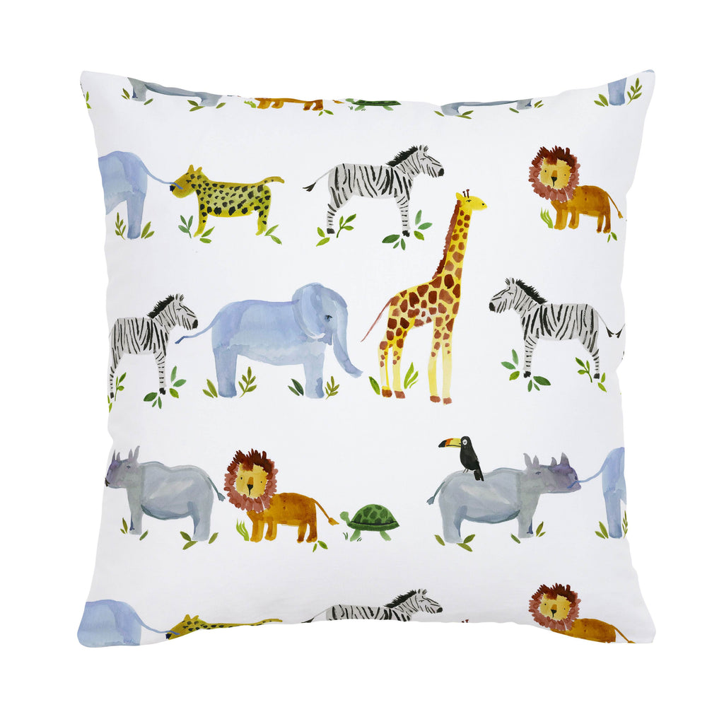 Product image for Painted Zoo Throw Pillow