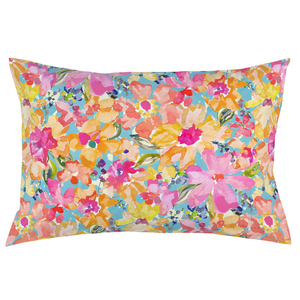 Product image for Coral Flower Bouquet Pillow Case