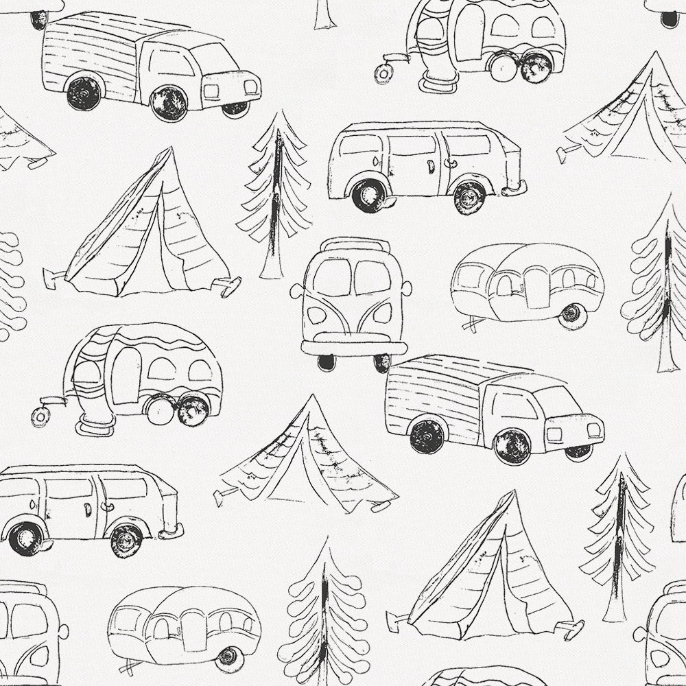 Product image for Slate Little Campers Fabric