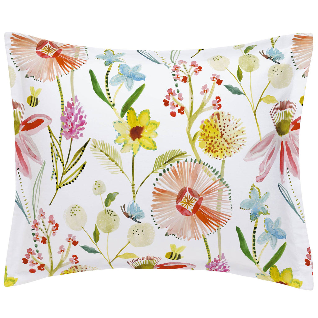Product image for Watercolor Springtime Pillow Sham