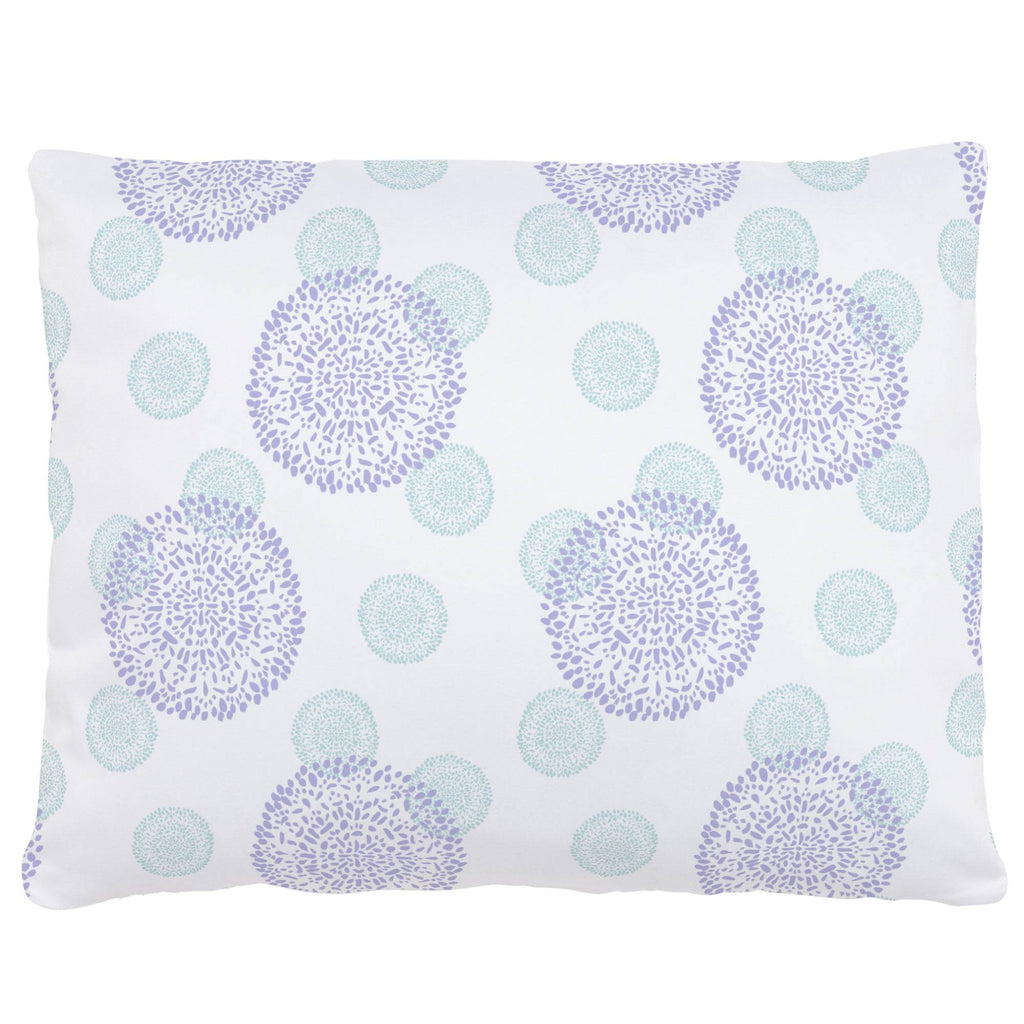 Product image for Lilac and Mist Dandelion Accent Pillow
