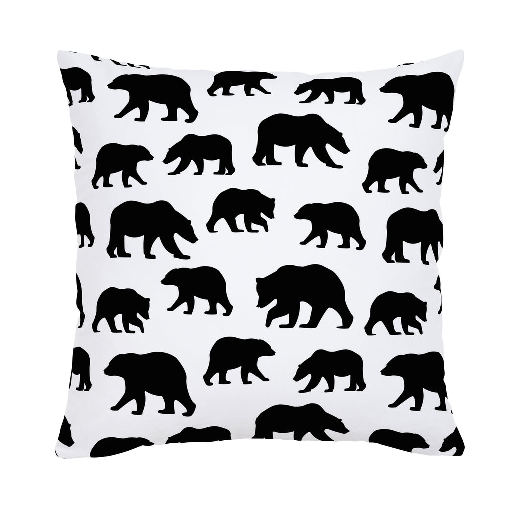 Product image for Onyx Bears Throw Pillow