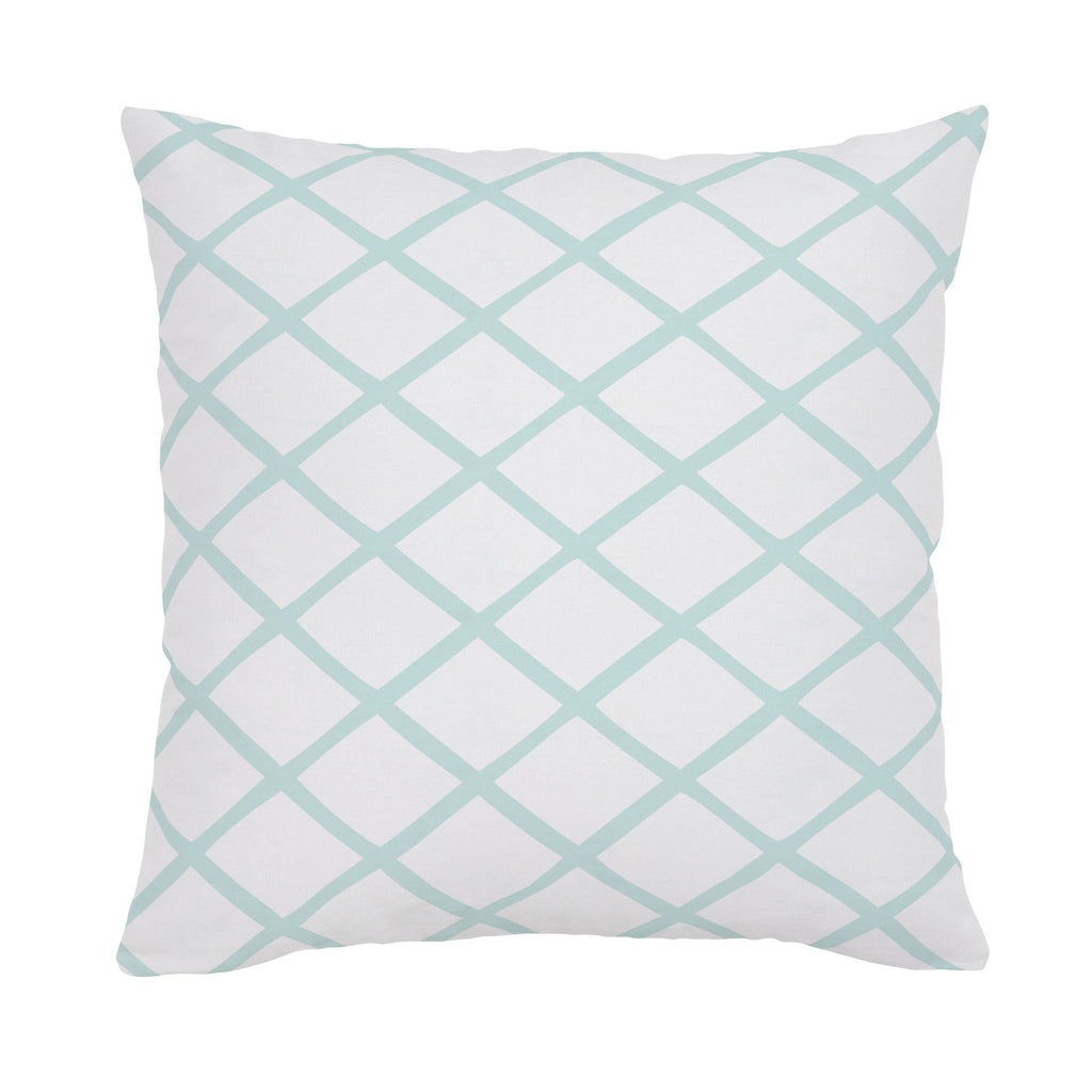 Product image for Icy Mint Trellis Throw Pillow