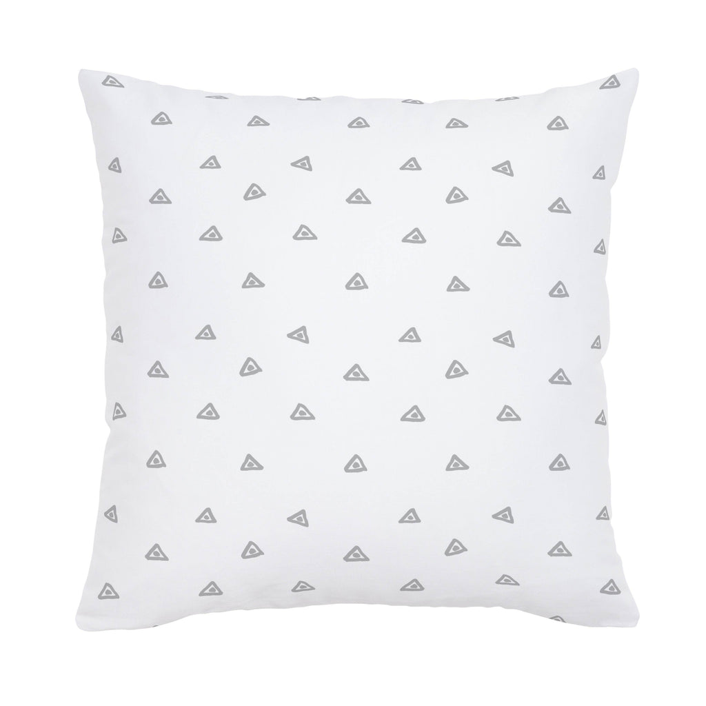 Product image for Silver Gray Triangle Dots Throw Pillow