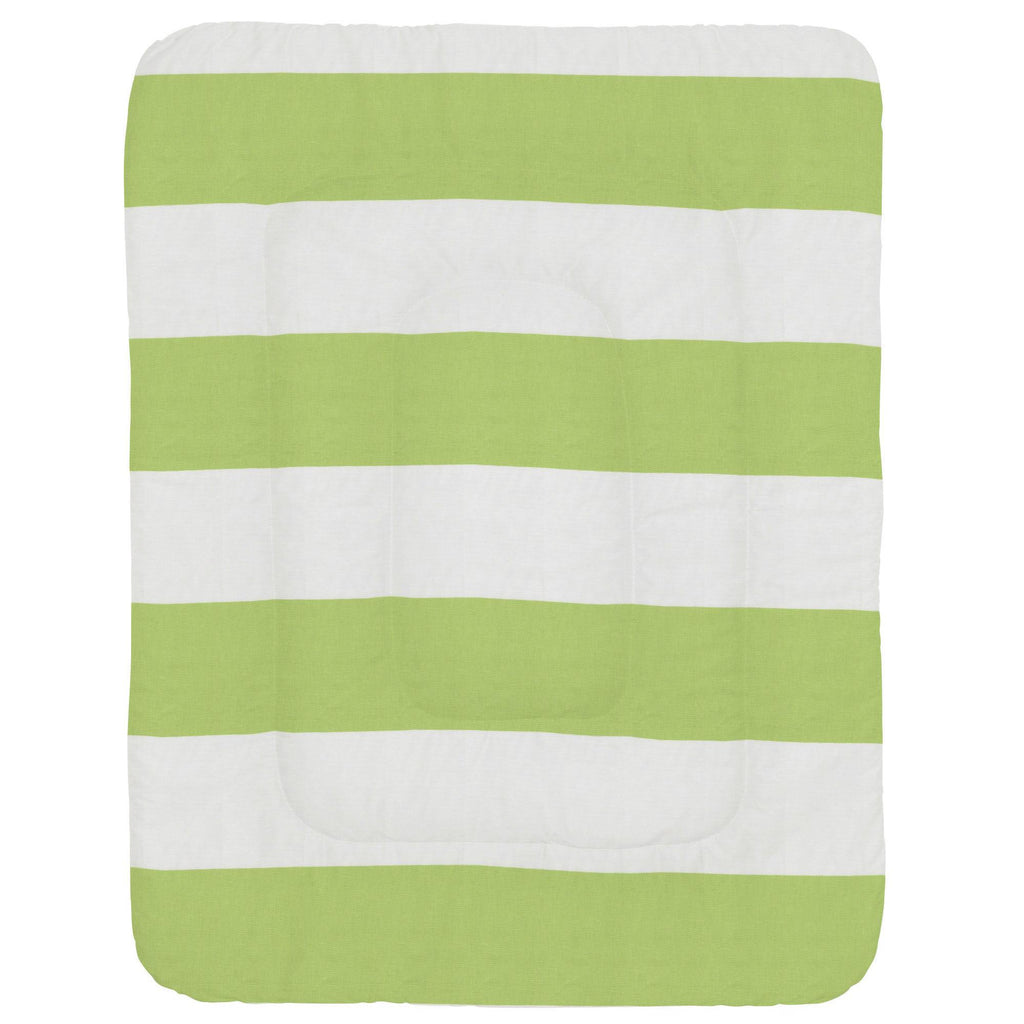 Product image for Kiwi Horizontal Stripe Crib Comforter