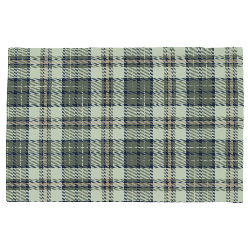 Product image for Navy and Seafoam Plaid Toddler Pillow Case