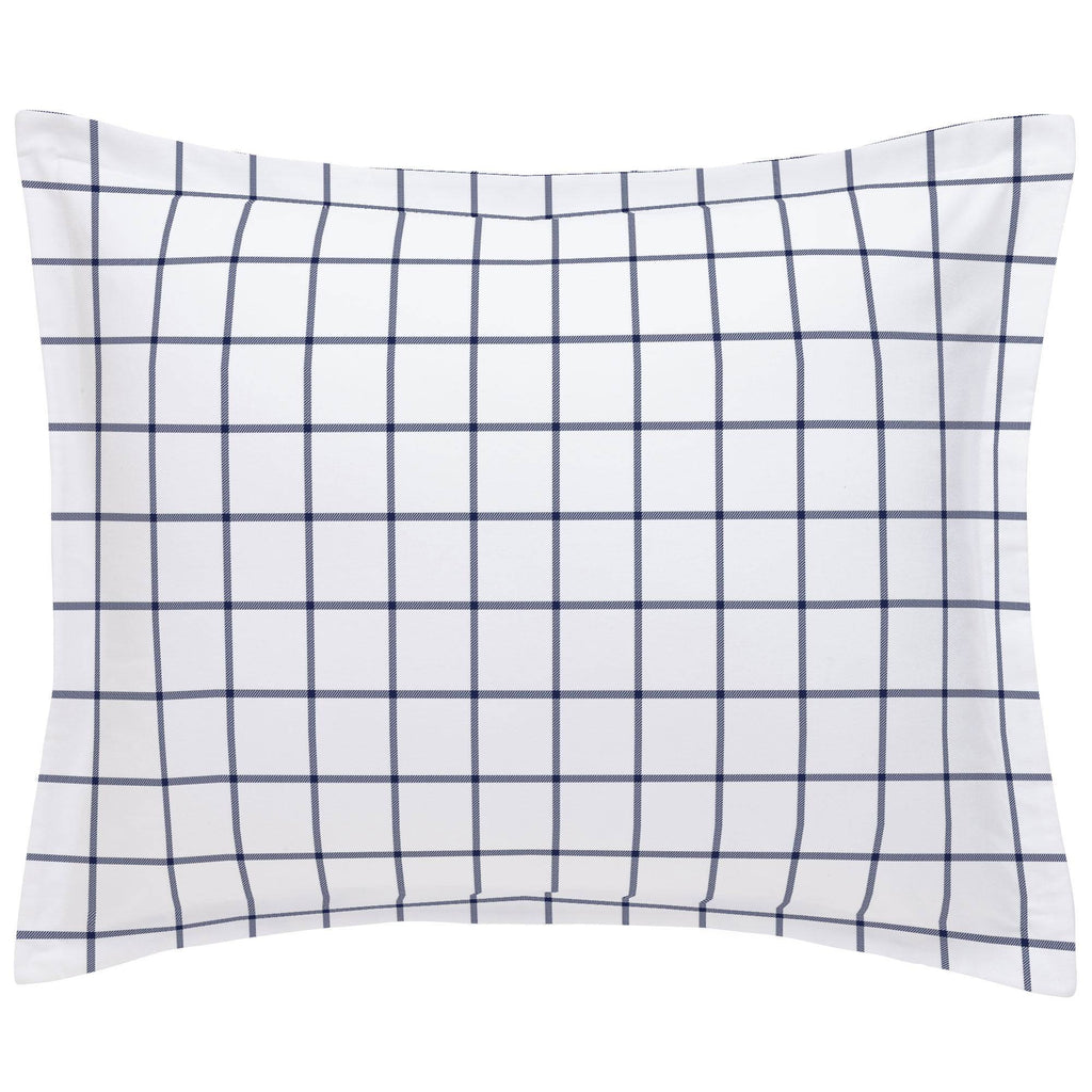 Product image for Navy Windowpane Pillow Sham