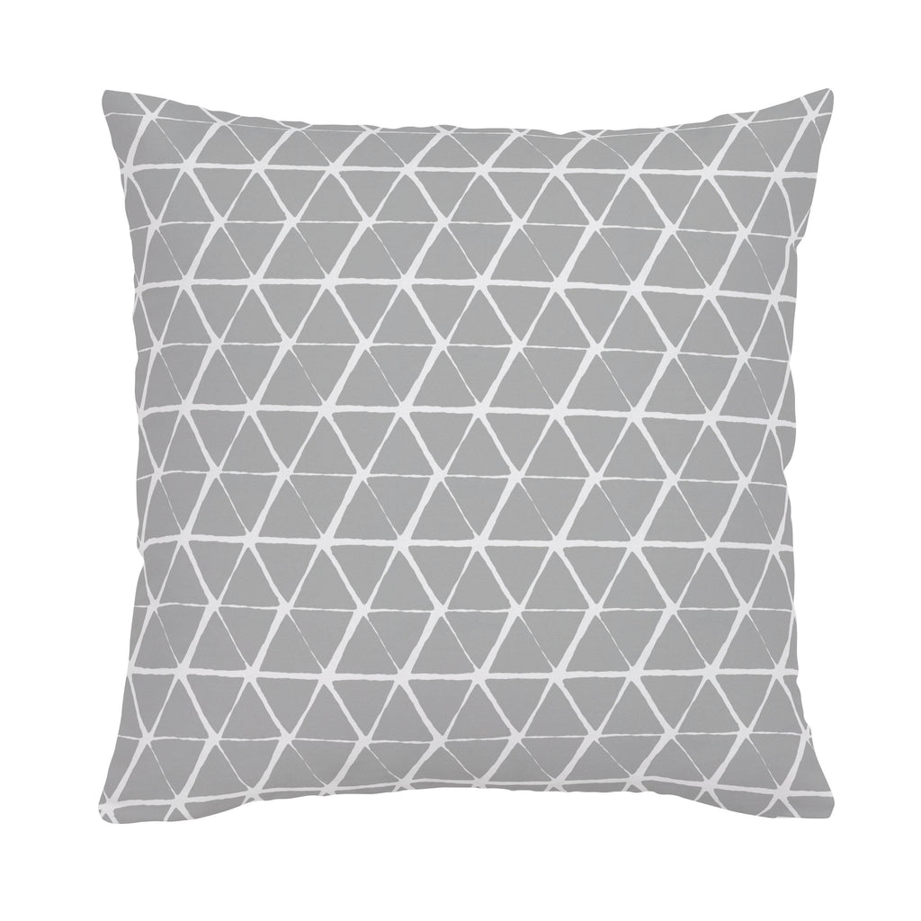 Product image for Gray Aztec Triangles Throw Pillow
