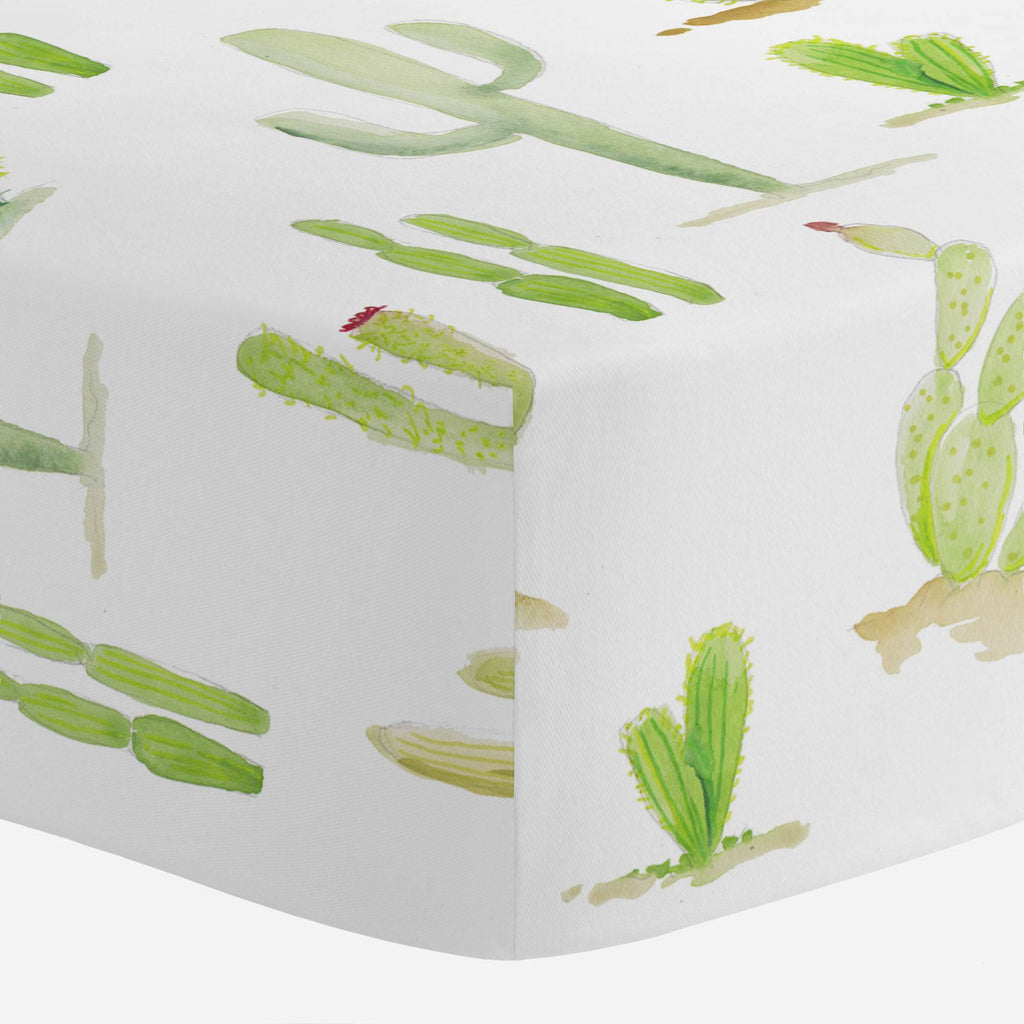 Product image for Watercolor Cactus Crib Sheet