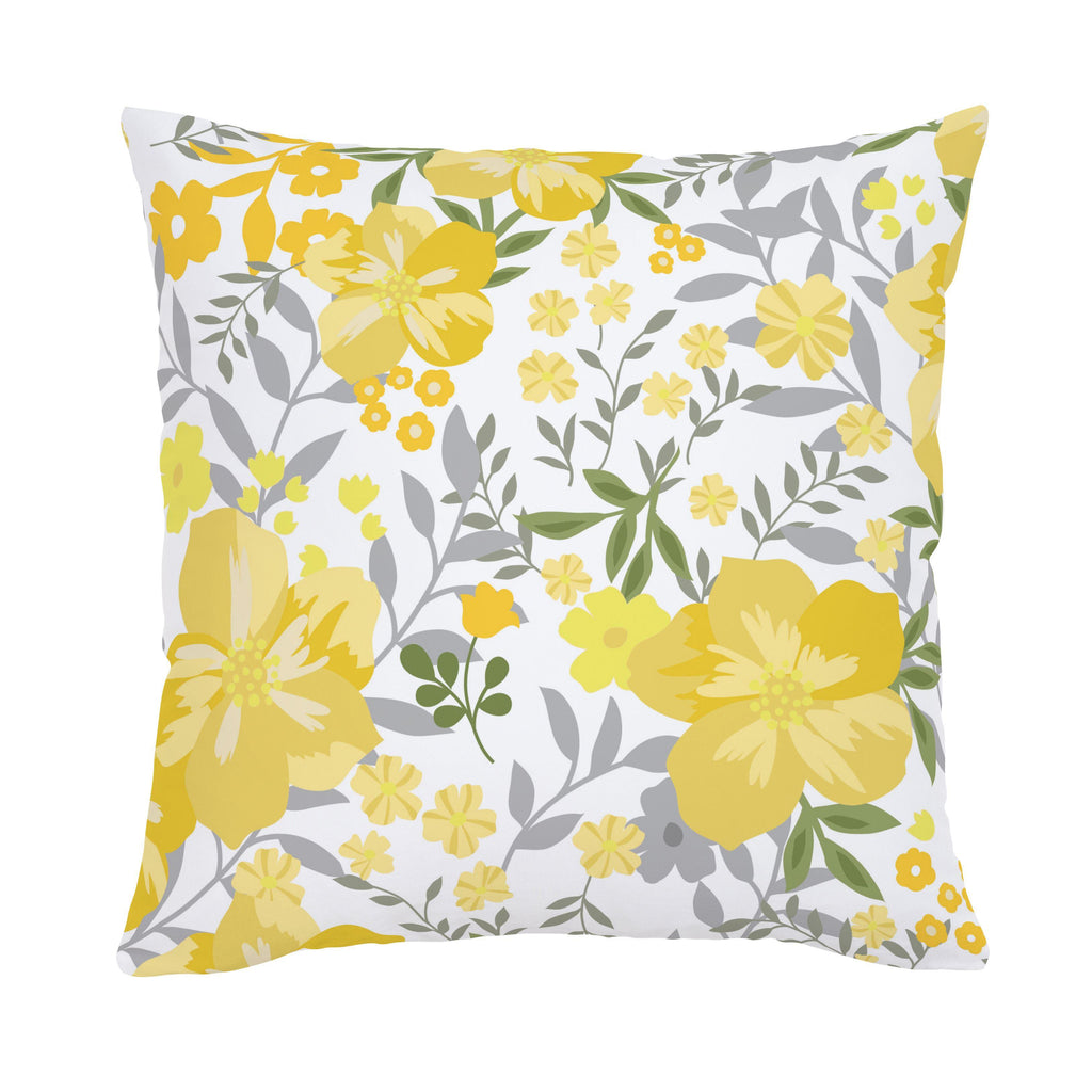 Product image for Yellow Floral Tropic Throw Pillow