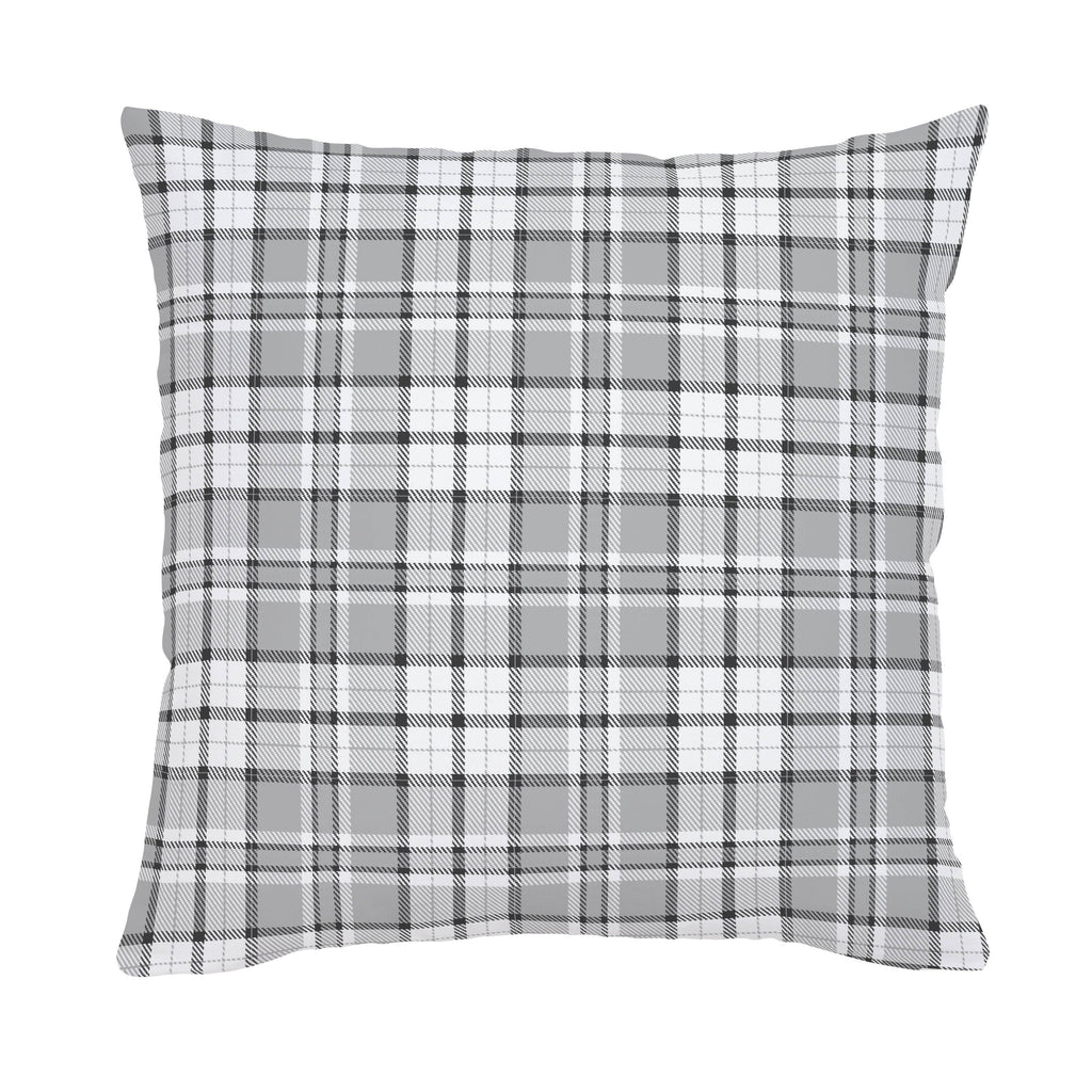 Product image for Gray Plaid Throw Pillow