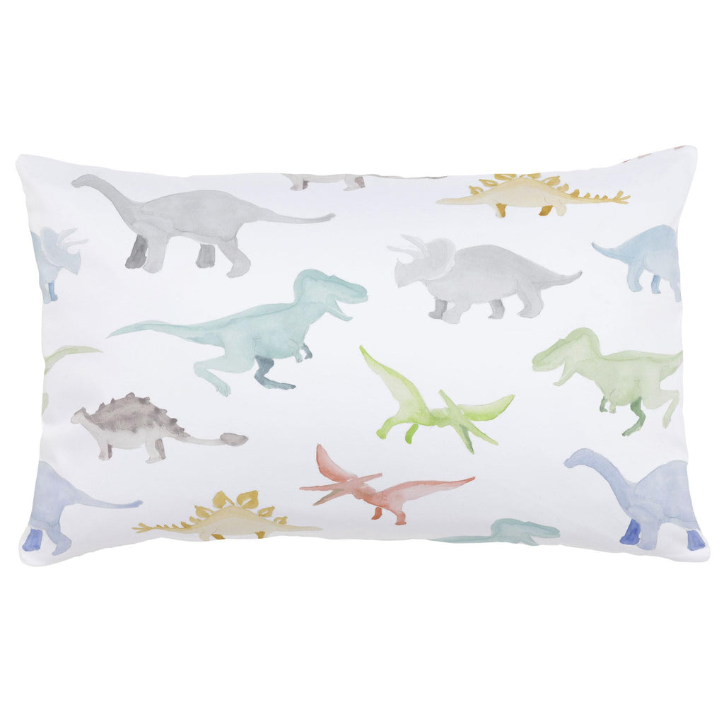 Product image for Watercolor Dinosaurs Lumbar Pillow
