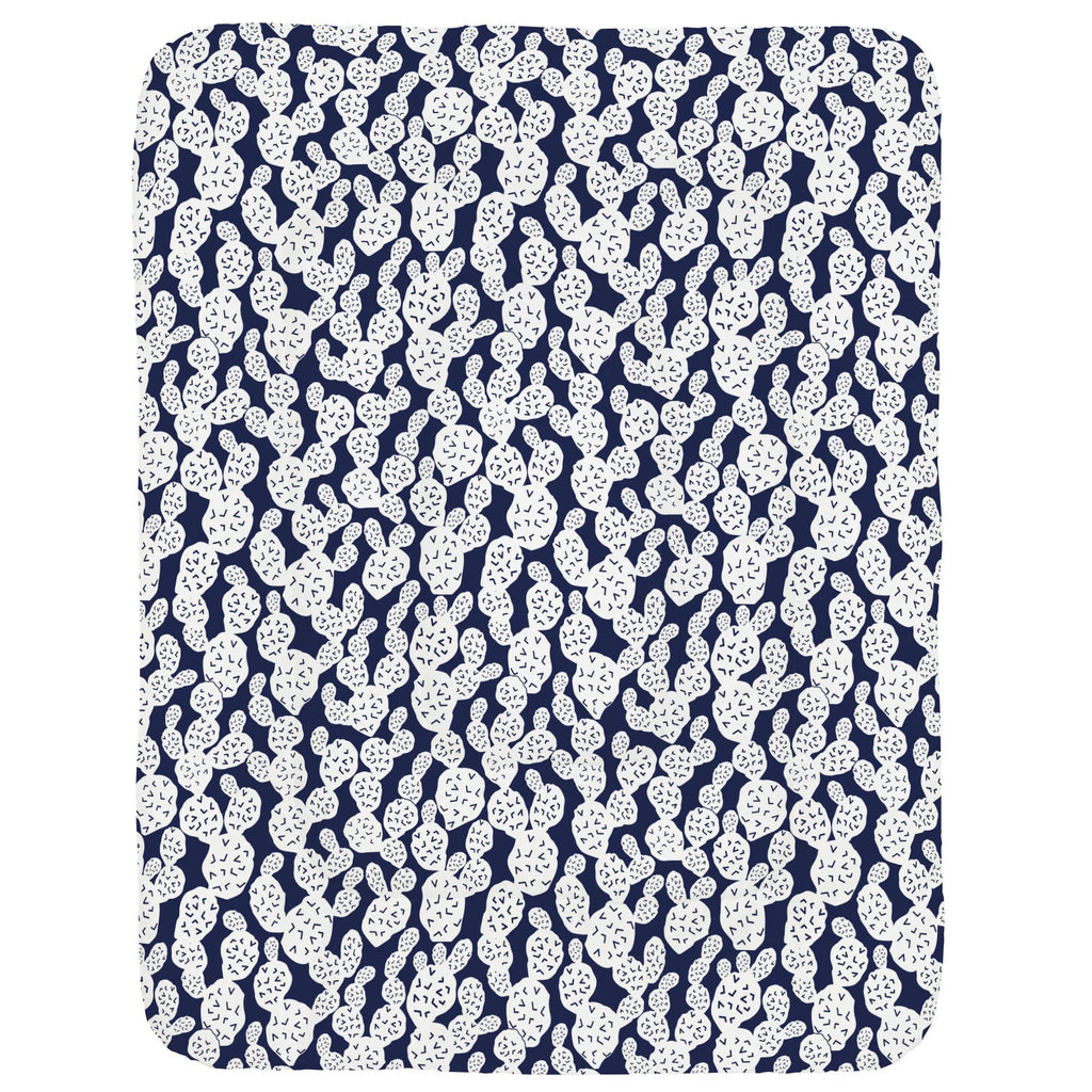 Product image for Navy Prickly Pear Crib Comforter