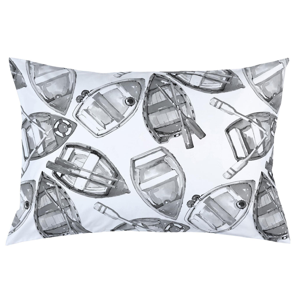 Product image for Gray Watercolor Boats Pillow Case