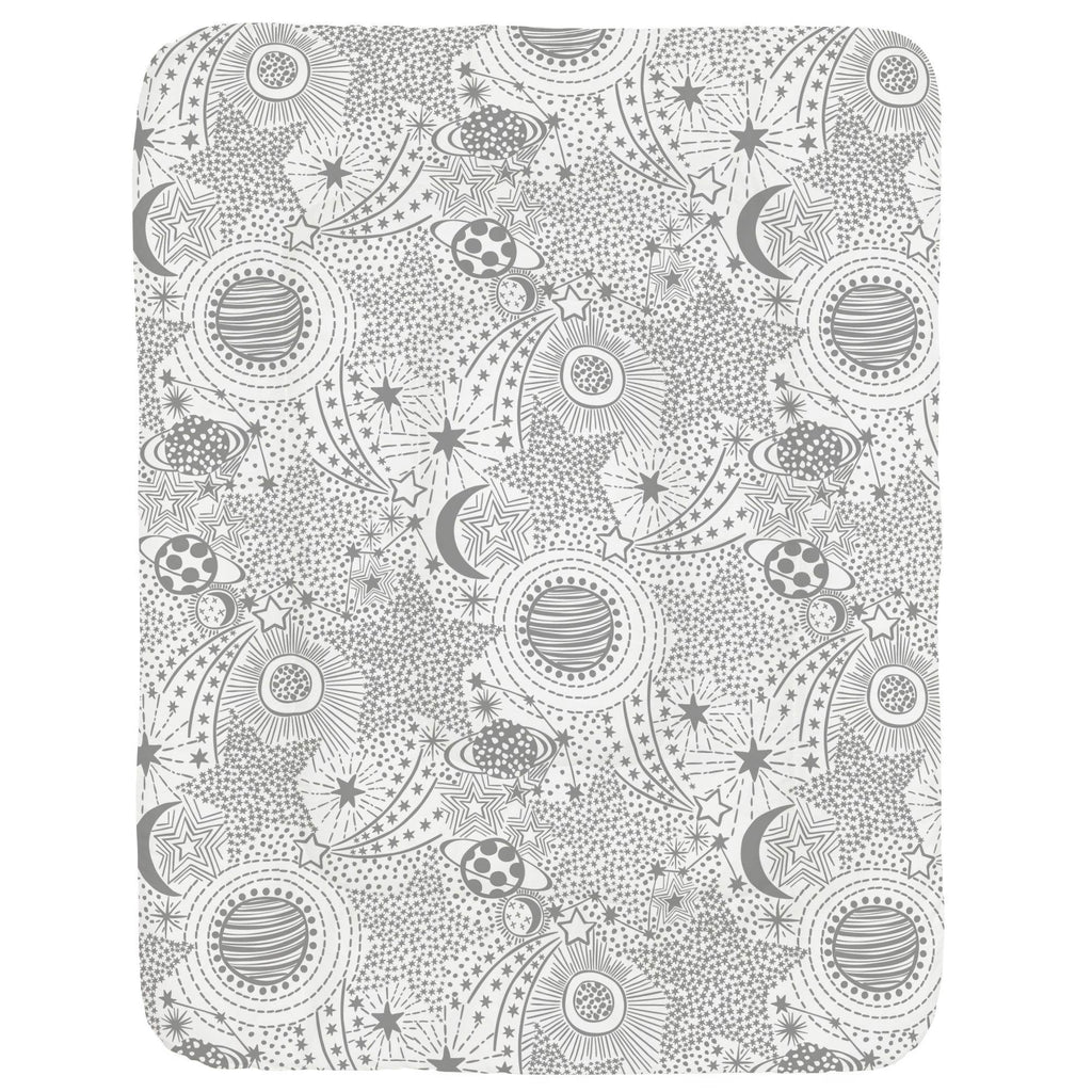 Product image for Cloud Gray Galaxy Crib Comforter
