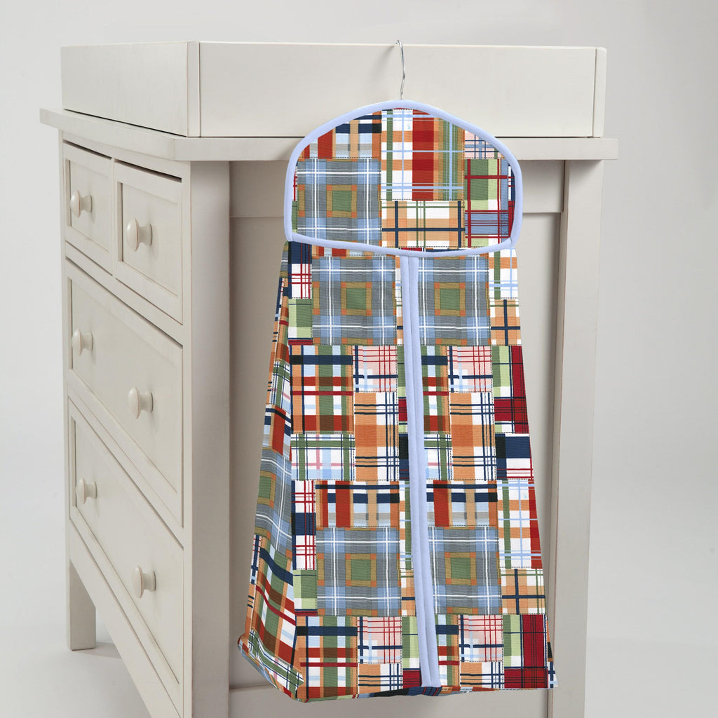 Product image for Patchwork Plaid Diaper Stacker