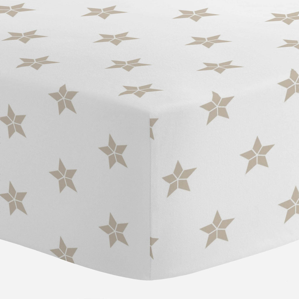 Product image for Taupe Mosaic Stars Crib Sheet