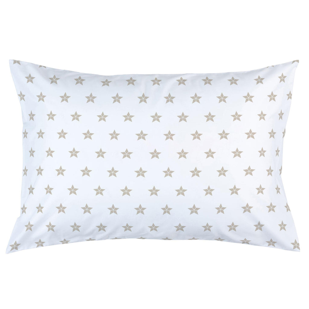 Product image for Taupe Mosaic Stars Pillow Case