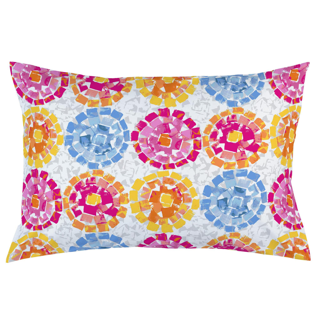 Product image for Pink and Blue Modern Mosaic Pillow Case