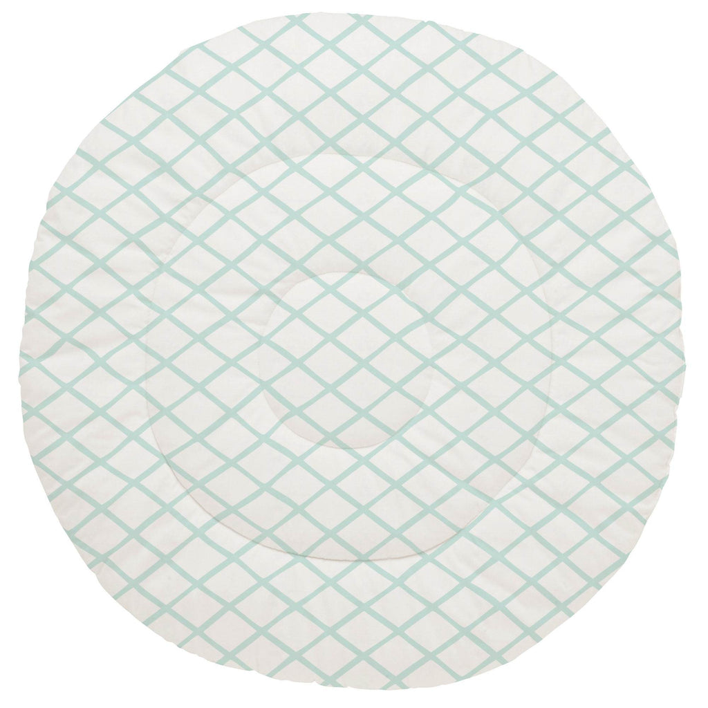 Product image for Icy Mint Trellis Baby Play Mat