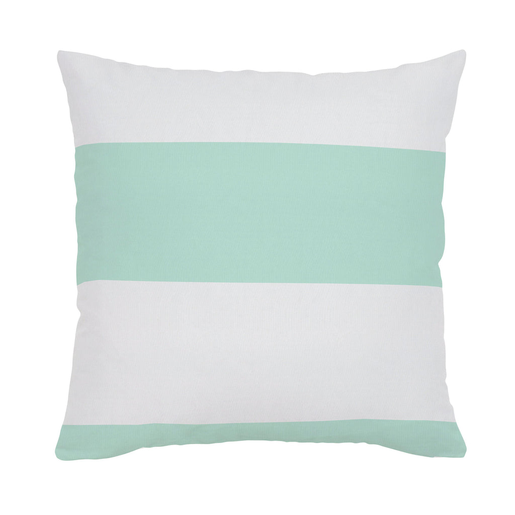 Product image for Icy Mint Horizontal Stripe Throw Pillow