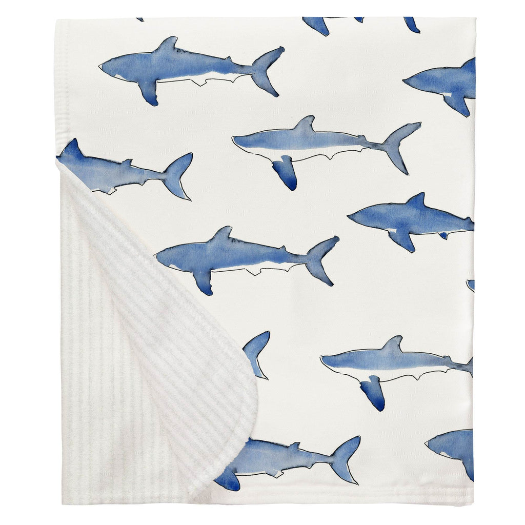 Product image for Blue Sharks Baby Blanket