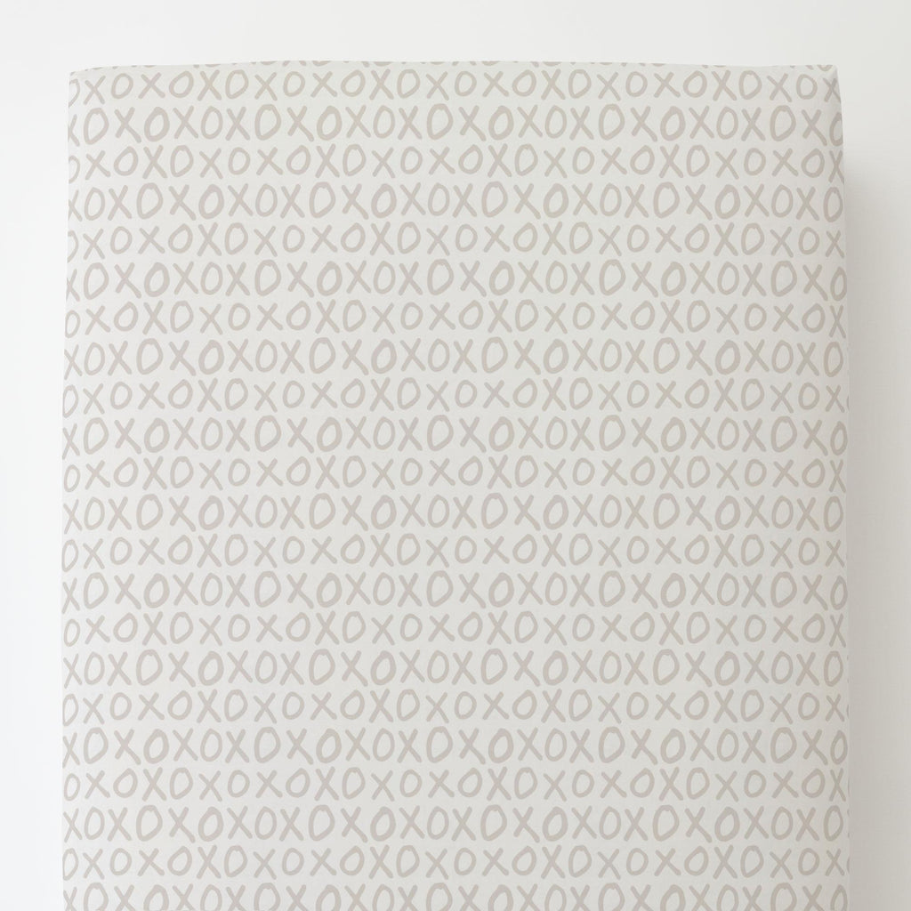 Product image for Taupe XO Toddler Sheet Bottom Fitted