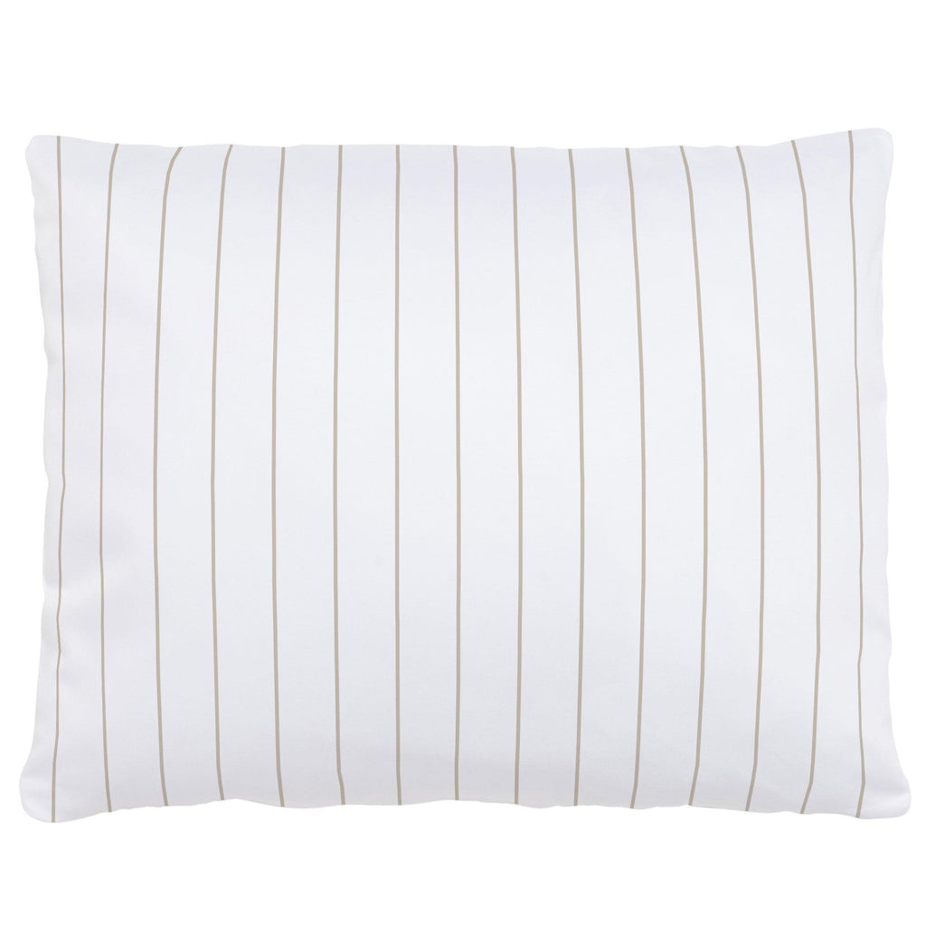 Product image for Taupe Pinstripe Accent Pillow