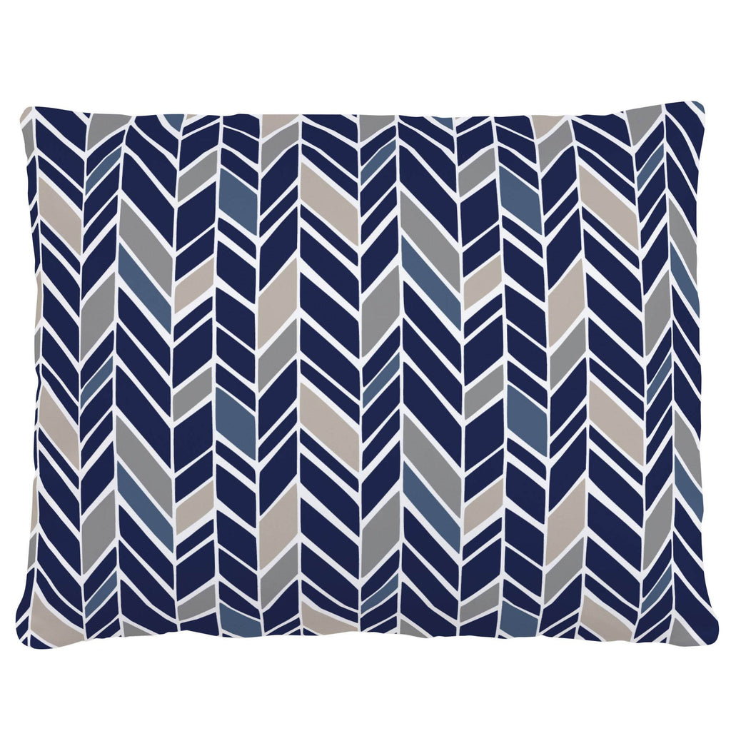 Product image for Taupe and Windsor Navy Herringbone Accent Pillow