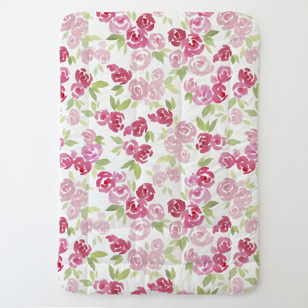 Product image for Watercolor Roses Toddler Comforter