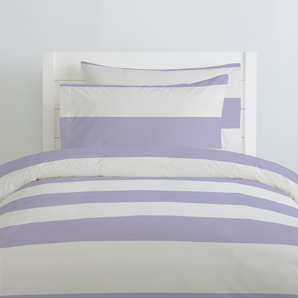 Product image for Lilac Horizontal Stripe Duvet Cover