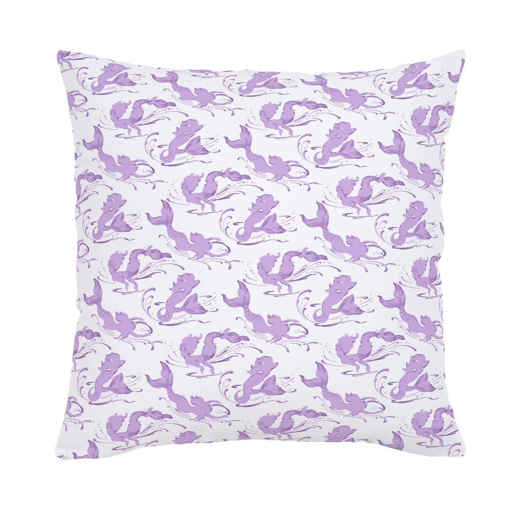 Product image for Purple Swimming Mermaids Throw Pillow