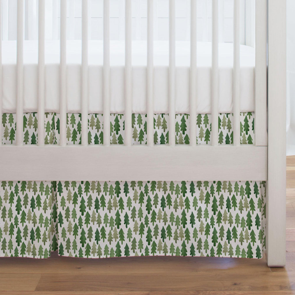 Product image for Evergreen Forest Crib Skirt Single-Pleat