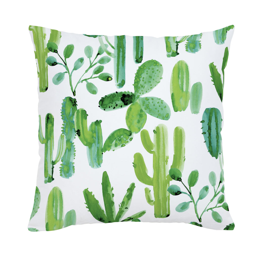 Product image for Green Painted Cactus Throw Pillow