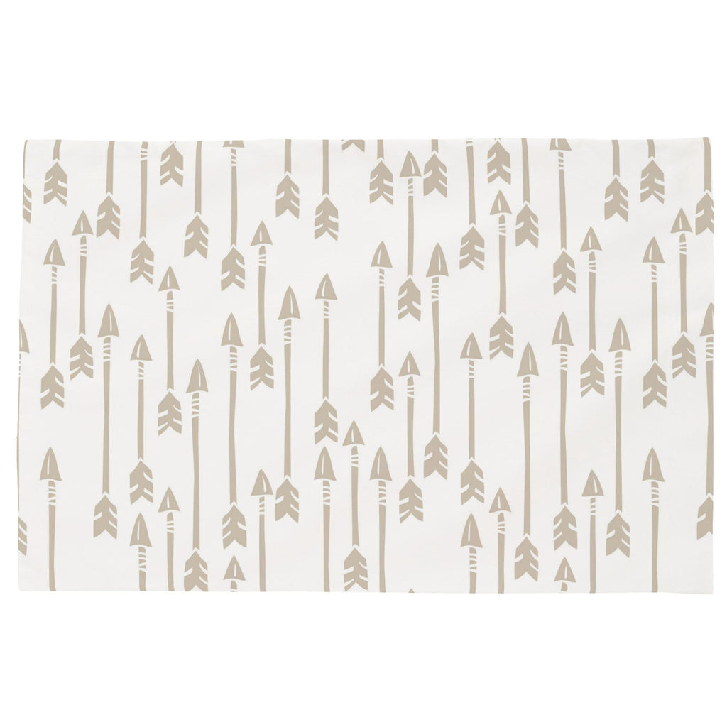 Product image for Taupe Flying Arrow Toddler Pillow Case