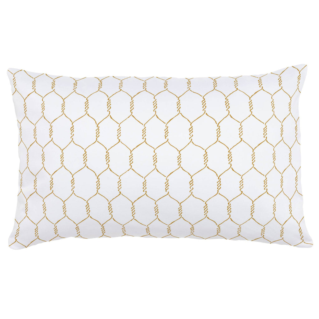 Product image for Mustard Farmhouse Wire Lumbar Pillow