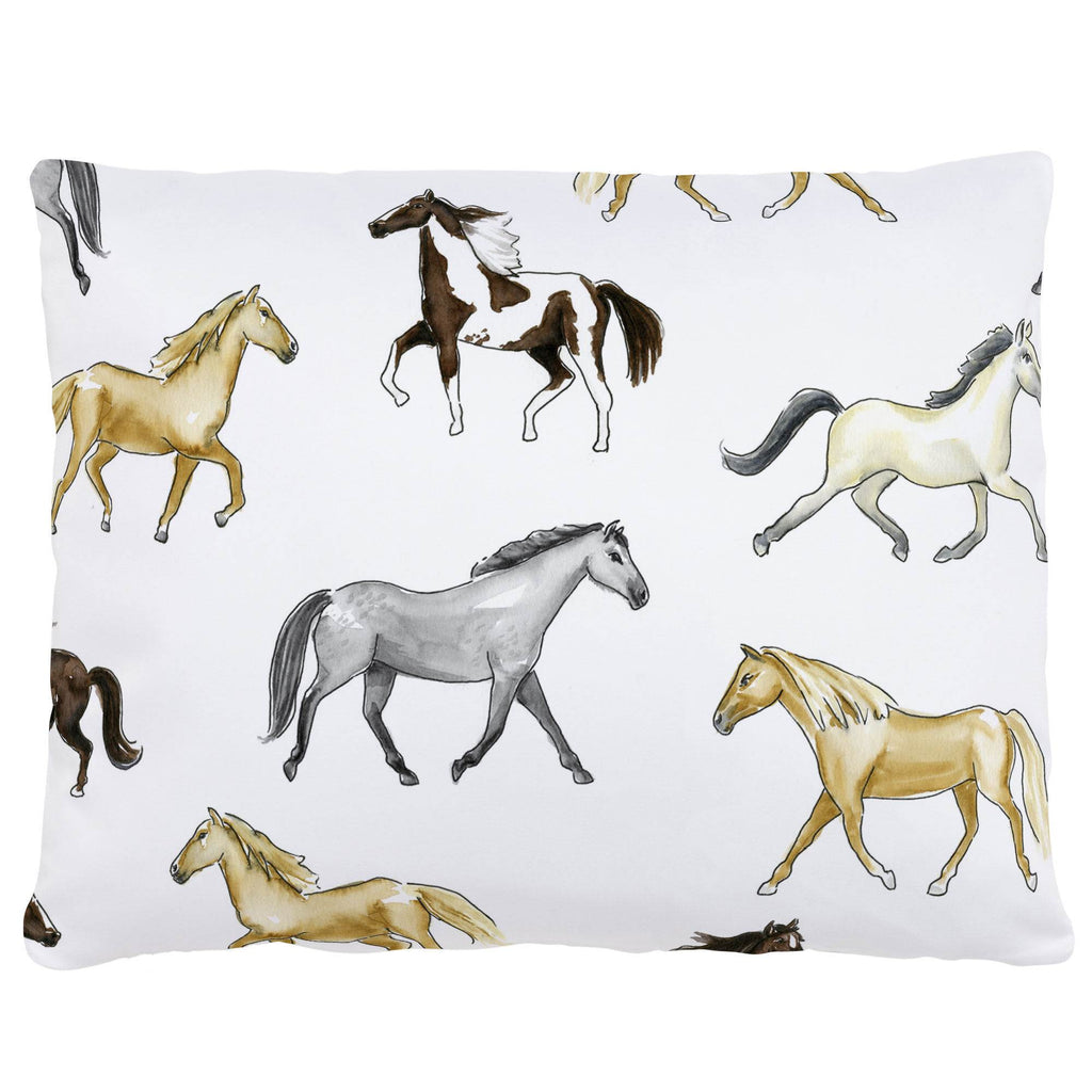 Product image for Watercolor Horses Accent Pillow