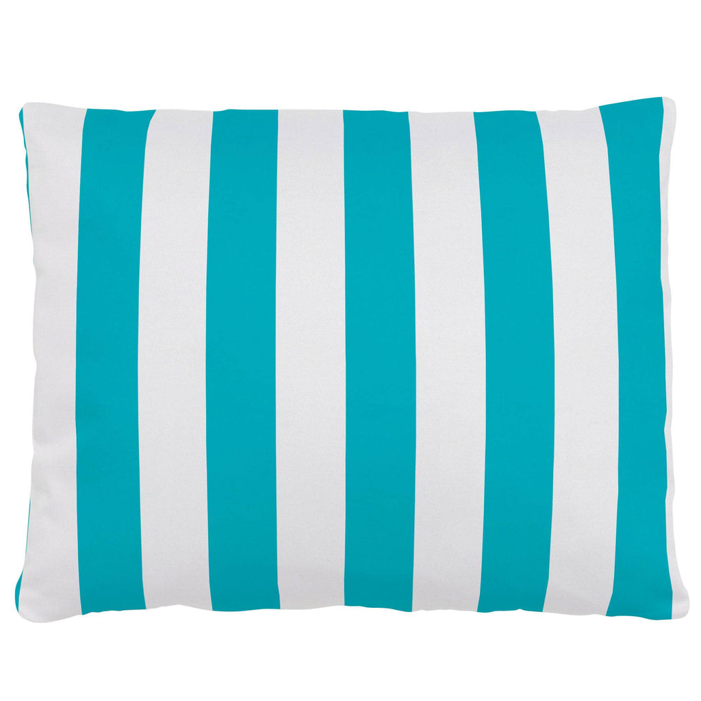 Product image for Teal Stripe Accent Pillow