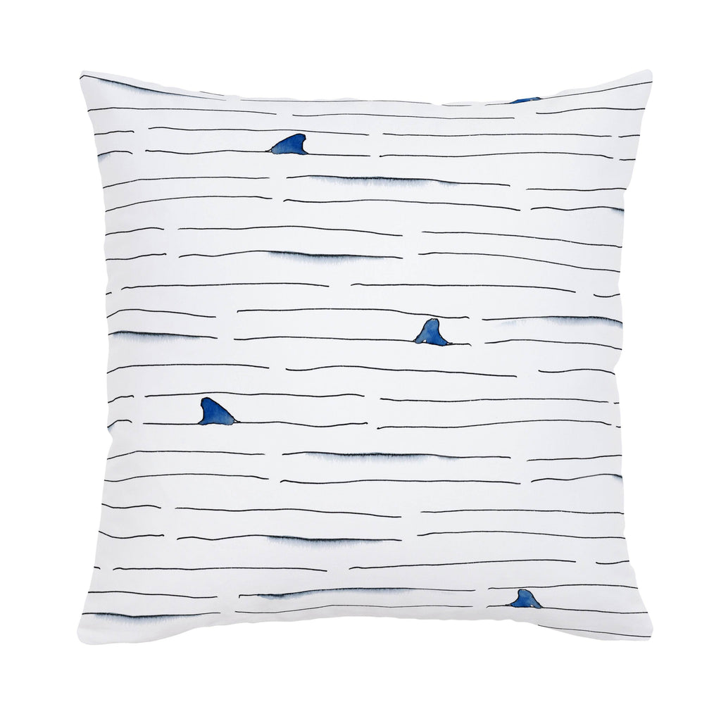 Product image for Shark Fin Stripe Throw Pillow