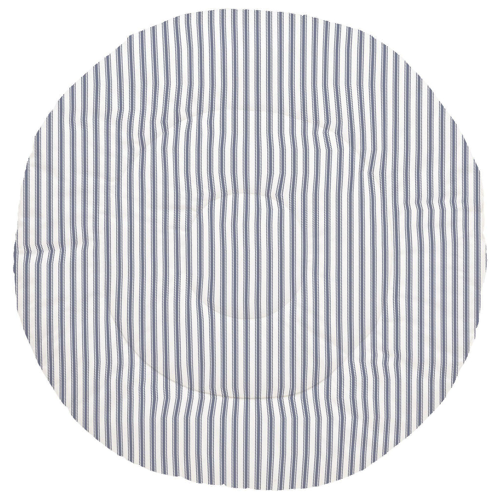 Product image for Windsor Navy Ticking Stripe Baby Play Mat