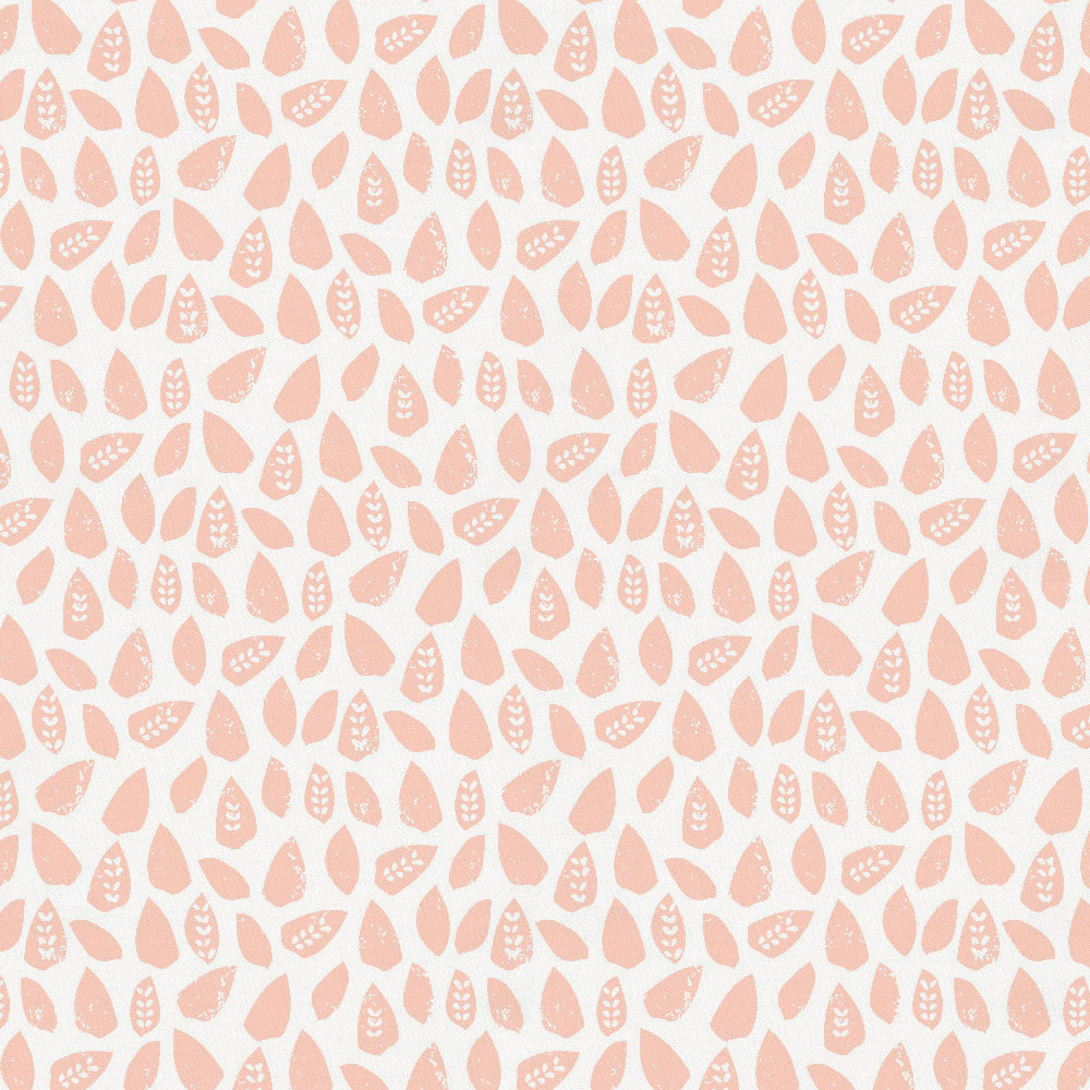 Product image for Peach Woodland Leaf Fabric