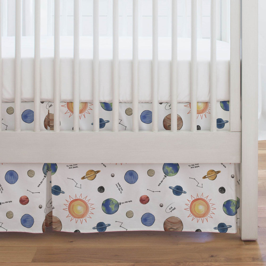 Product image for Solar System Crib Skirt Single-Pleat