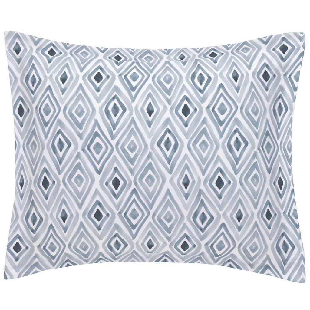 Product image for Steel Blue Painted Diamond Pillow Sham