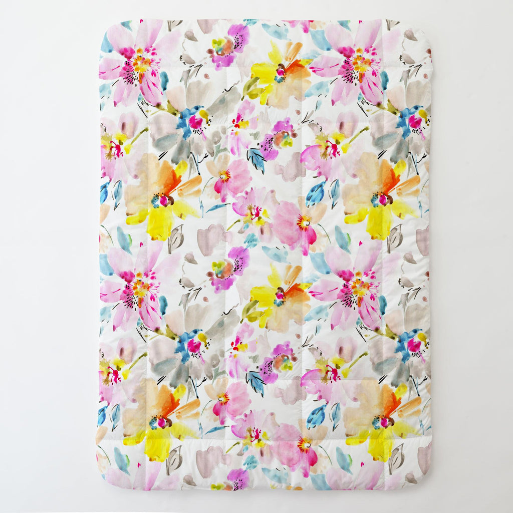 Product image for Watercolor Floral Toddler Comforter