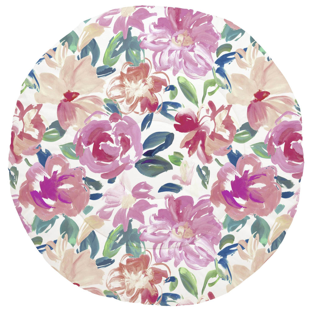 Product image for Pink Brushstroke Floral Baby Play Mat