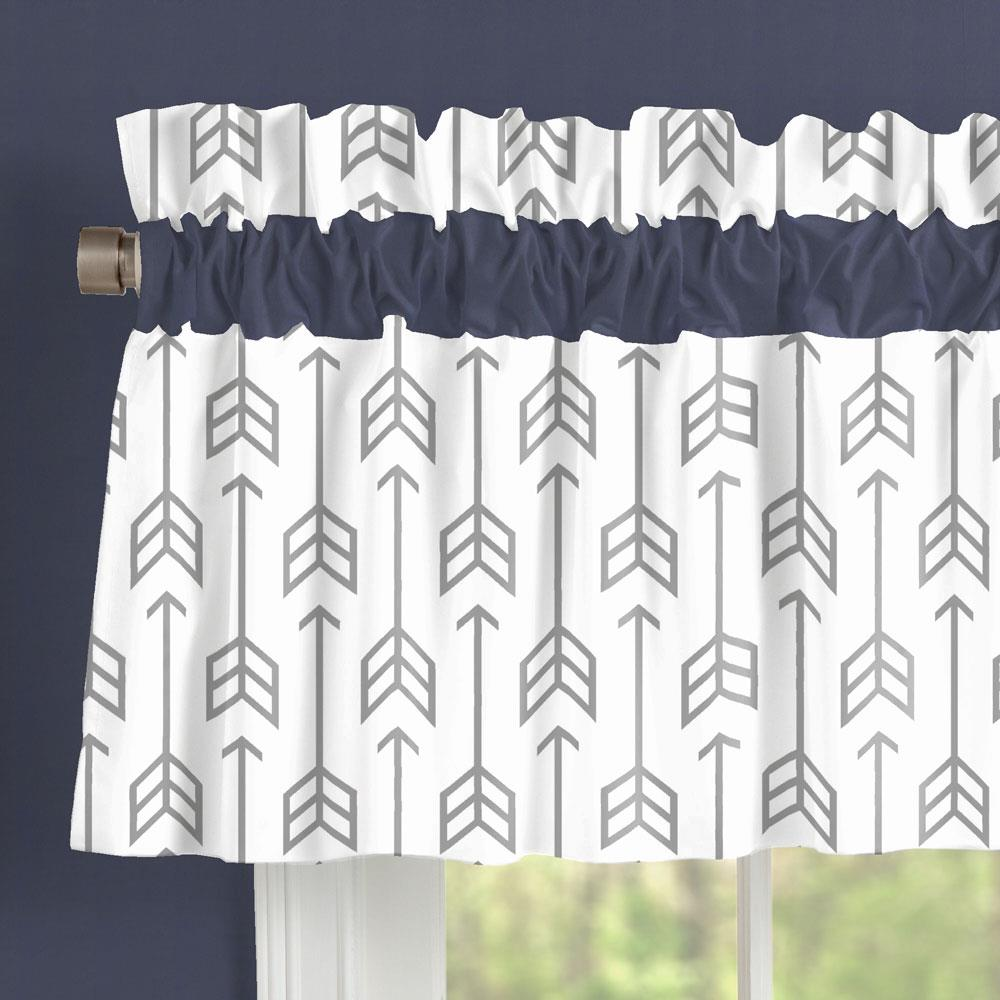 Product image for Cloud Gray Arrow Window Valance