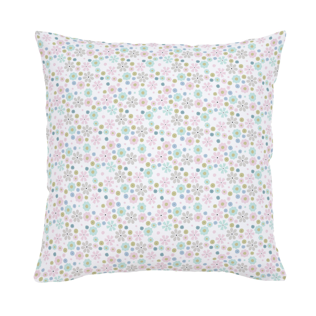 Product image for Pink Spring Flowers Throw Pillow