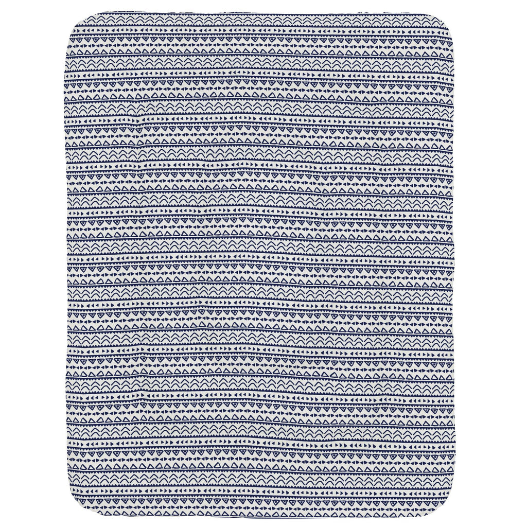 Product image for Windsor Navy Baby Aztec Crib Comforter