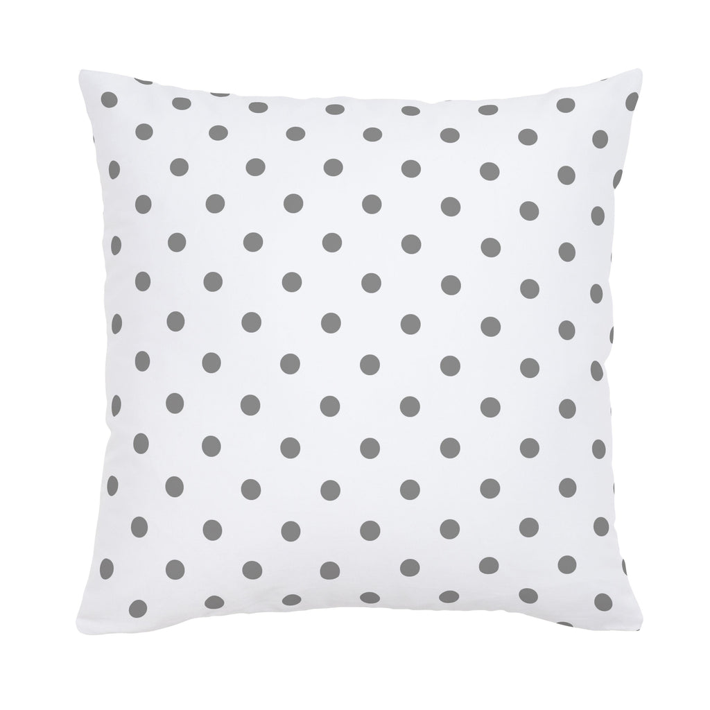 Product image for White and Gray Polka Dot Throw Pillow