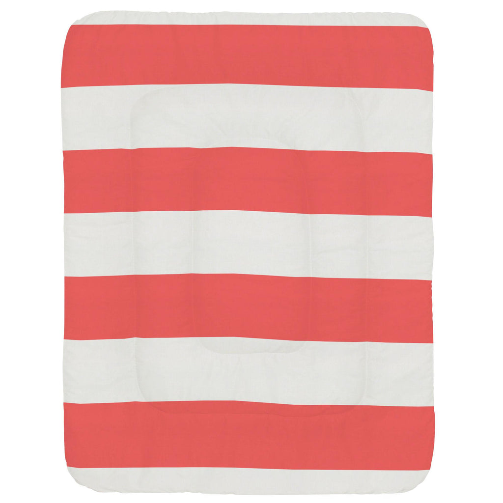 Product image for Coral Horizontal Stripe Crib Comforter